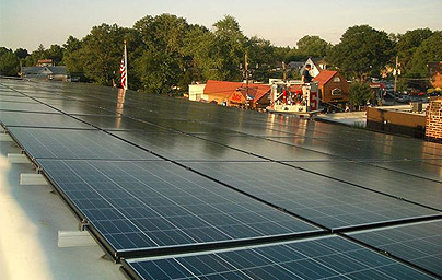 Solar panel installation for the Westmont Fire Company